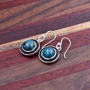‼️Clearance‼️925 Silver Azurite Earrings